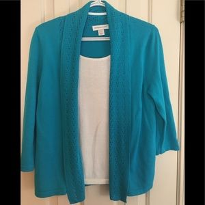 CHRISTOPHER AND BANKS AQUA SWEATER  SIZE SMALL